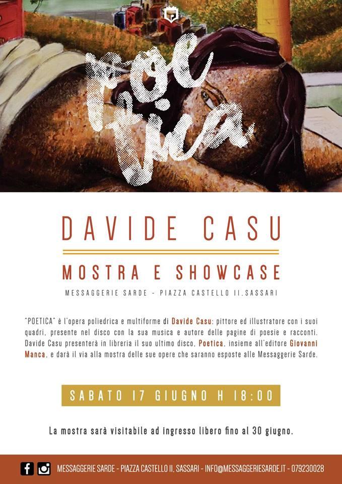 Davide Casu presenta Poetica locandina