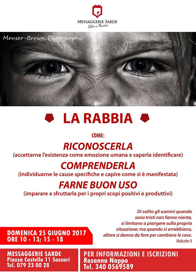 Miriam Bargagna La Rabbia. Seminario esperienziale condotto da Miriam Bargagna