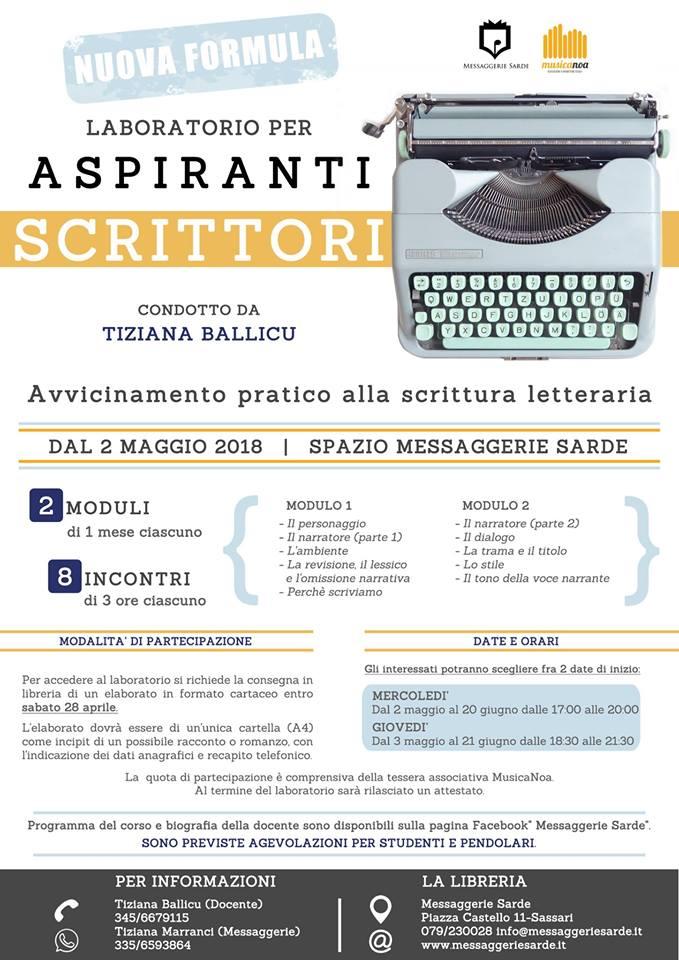 Laboratorio aspiranti scrittori seconda edizione locandina
