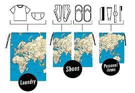 kikkerland travel bag set 1