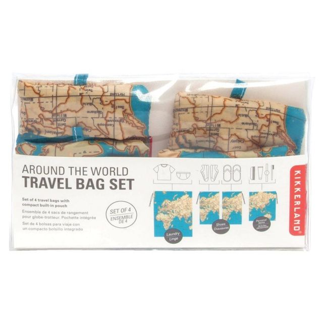 kikkerland travel bag set